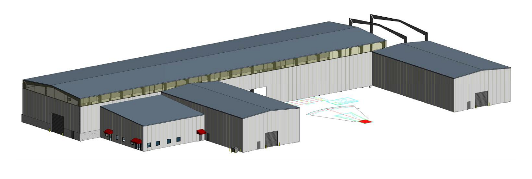 Proposed Production Building & Office for Oldcastle Precast